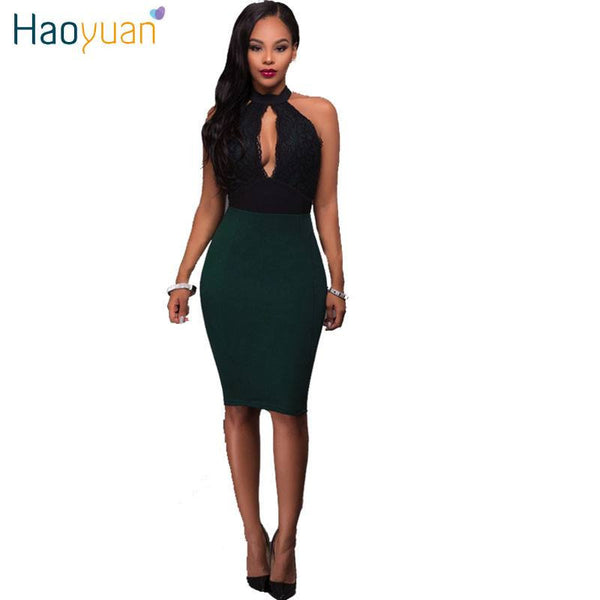 Women Lace Dress Elegant Bodycon 2017 New Summer Spring Hollow Out Plus Size Backless Off Shoulder Sexy Party Dresses - amazingbigdiscounts