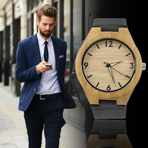 Vintage wooden dial watch quartz watches Men Women Couple Watch White Pointer New Hot Selling - amazingbigdiscounts
