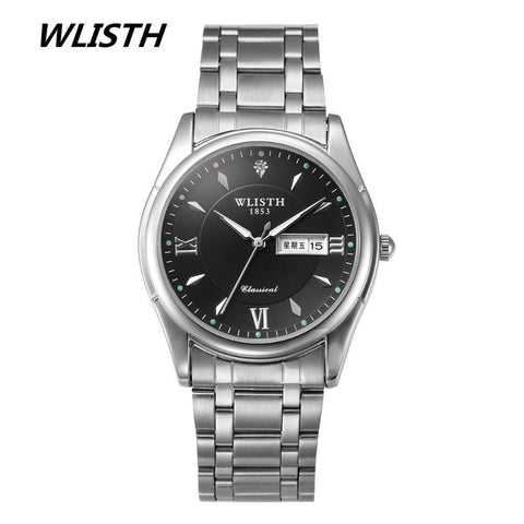 Men's Quartz Sport Watches Top Brand Luxury Day Date Stainless Steel Luminous Hour Clock Male Casual Watch - amazingbigdiscounts