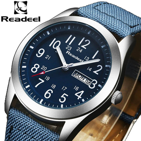 Men Luxury Sport Watches Brand Nylon Strap Army Military Men Watch Clock Male Quartz Watch Relogio Masculino 2017 saat - amazingbigdiscounts