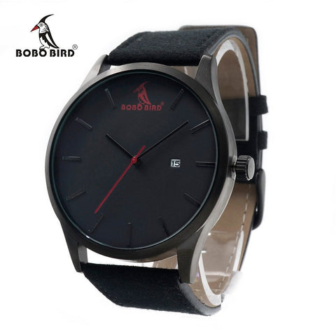 Luxury Brand Casual Quartz Watches Business Military Men Watches Leather relogio masculino Leather Strap Clock - amazingbigdiscounts
