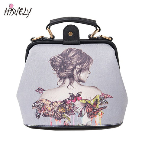 2017 New Fashion Bag restoring ancient ways the doctor button bag femininas Women Bags Shoulder Bag Female Tote printing Cartoon