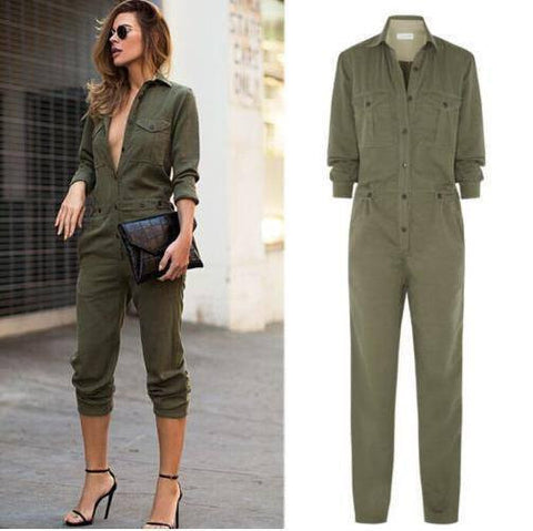 2017 Fashion Army Jumpsuits