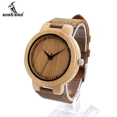 Men's Brand Luxury Wooden Watches With Real Leather Japan Quartz Movement Watch for Men in Gift Box - amazingbigdiscounts