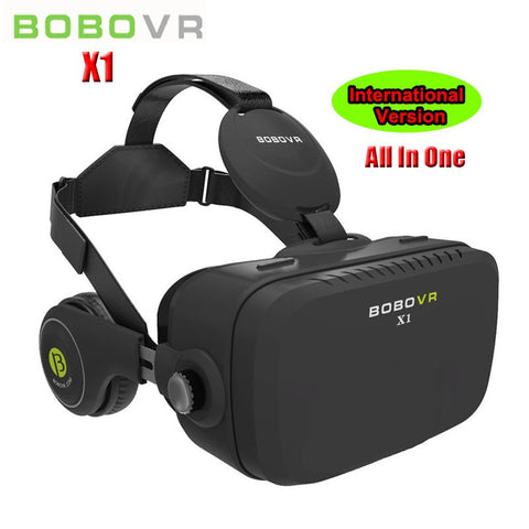 VR Virtual Reality 3D Glasses Helmet Box with Headphone 120 Degrees