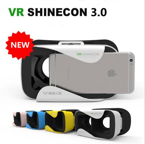 VR Shinecon 3.0 Virtual Reality 3D Glasses VR Helmet Game Video Box For 4.7-6'