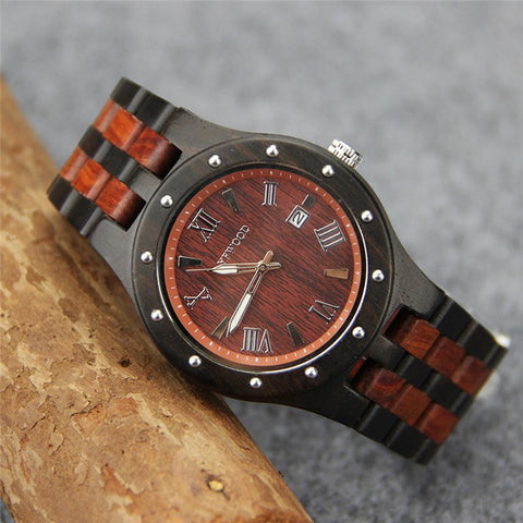 Wooden Men's Quartz Watch Top Brand Men Watches Luxury  Business Date Clock Male Dress Wrist Watch Relogio Masculino - amazingbigdiscounts