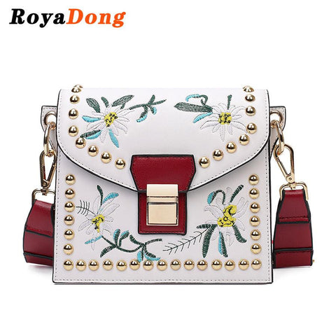 Crossbody Bags For Girls Handbags 2017 Women Messenger Bags High Quality Embroidery Flower Flap Shoulder Bag