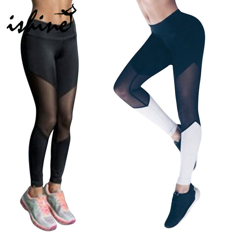 Women Sport Leggings Fitness Yoga Pants Black White Athletic Leggings Sport Tight Mallas Mujer Deportivas Gym Clothes Running - amazingbigdiscounts