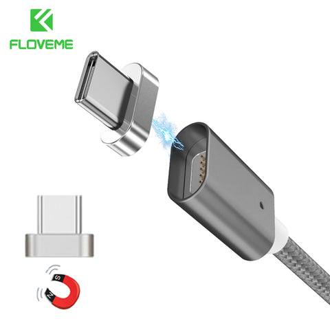 FLOVEME Magnetic Type-C Cable For Samsung S8 Plus Xiaomi 5 6 5X 5A Huawei Mate 9 P9 P10 Meizu Pro 7 Fast Charger Type C Data USB - amazingbigdiscounts