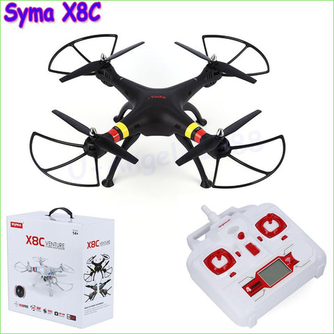 Original SYMA X8C X8 2.4G 4CH 6Axis Professional RC Drone Quadcopter With 2MP Wide Angle HD Camera Remote Control Helicopter - amazingbigdiscounts