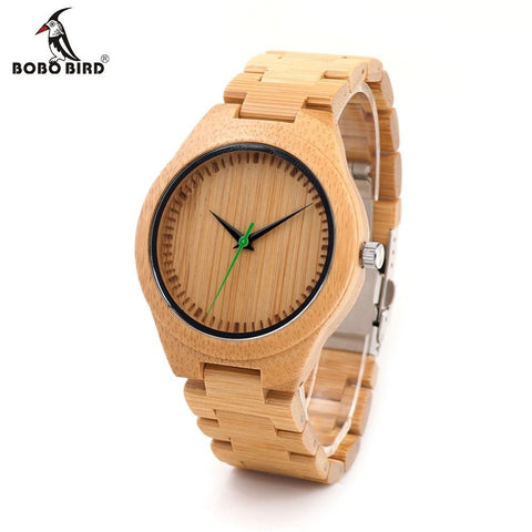 Wooden Men's Watch Quarts Bamboo Watches Luxury Men's Top Brand Designer Quartz Watch With  Strap in Gift Box - amazingbigdiscounts
