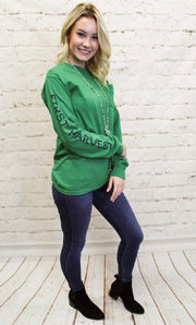FH Long Sleeve- Green/ Navy/ Gold