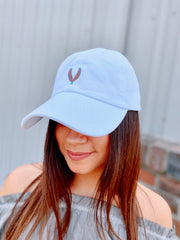 First Harvest hat- white/teal/coral