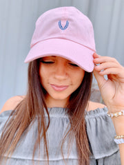 First Harvest Hat- Pink/Navy