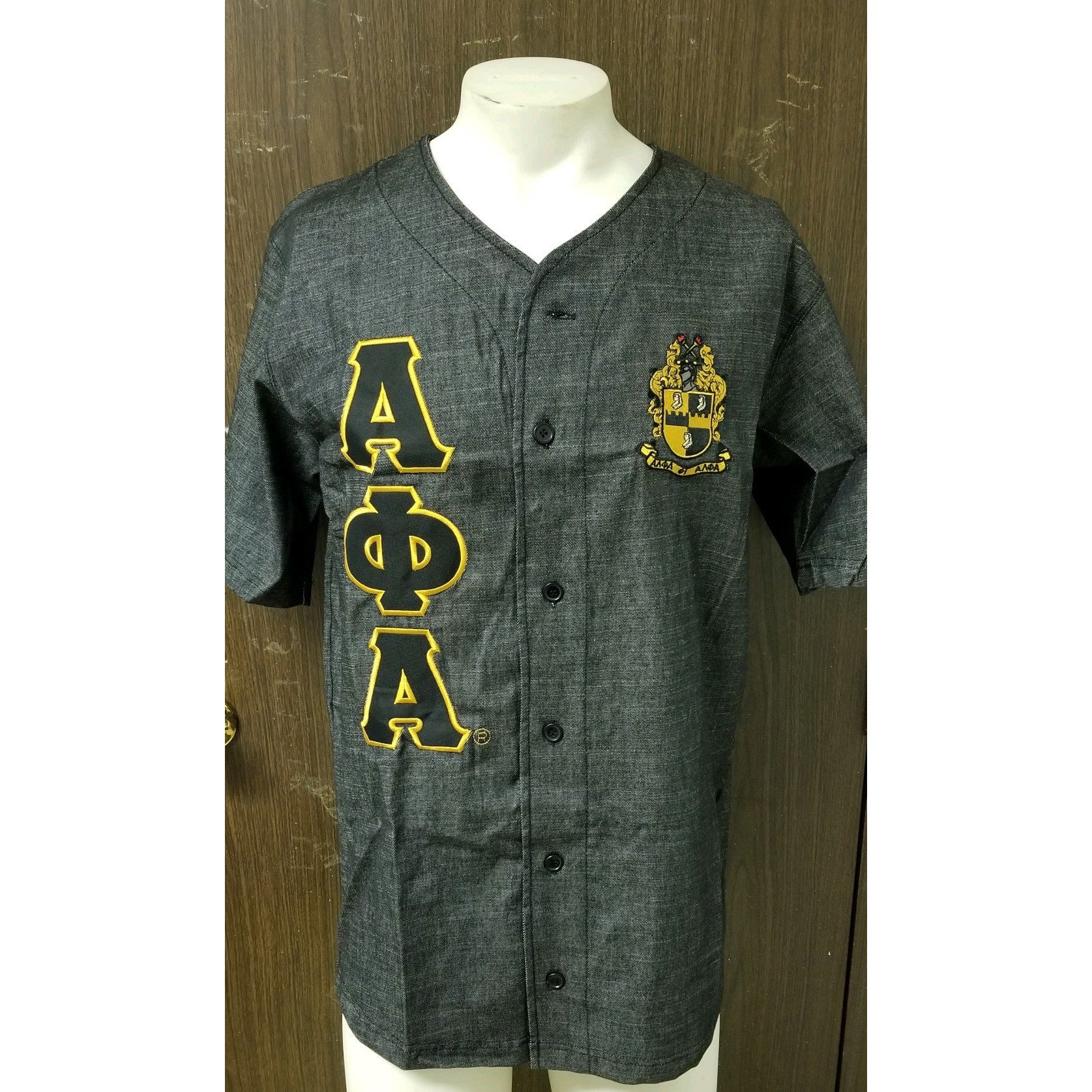Black Denim Alpha Phi Alpha Jersey