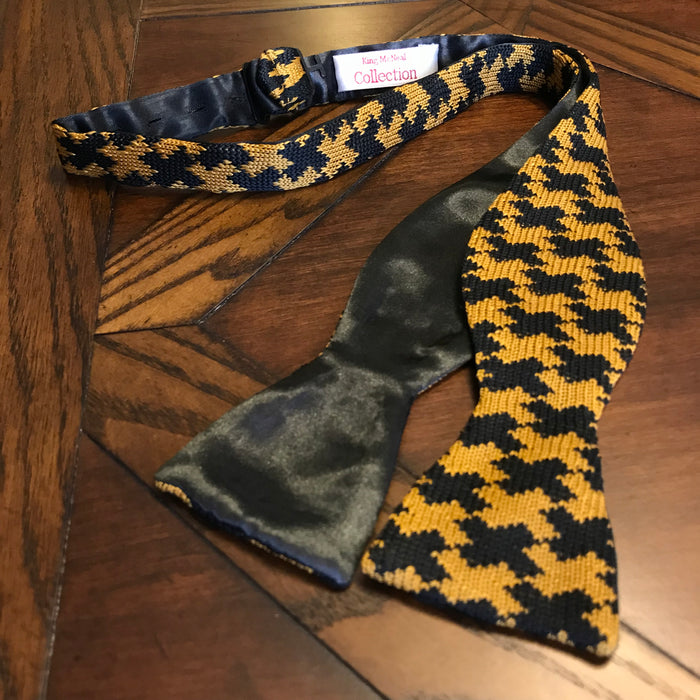 Black and Old Gold (Alpha Inspired) Knit Bow Tie II