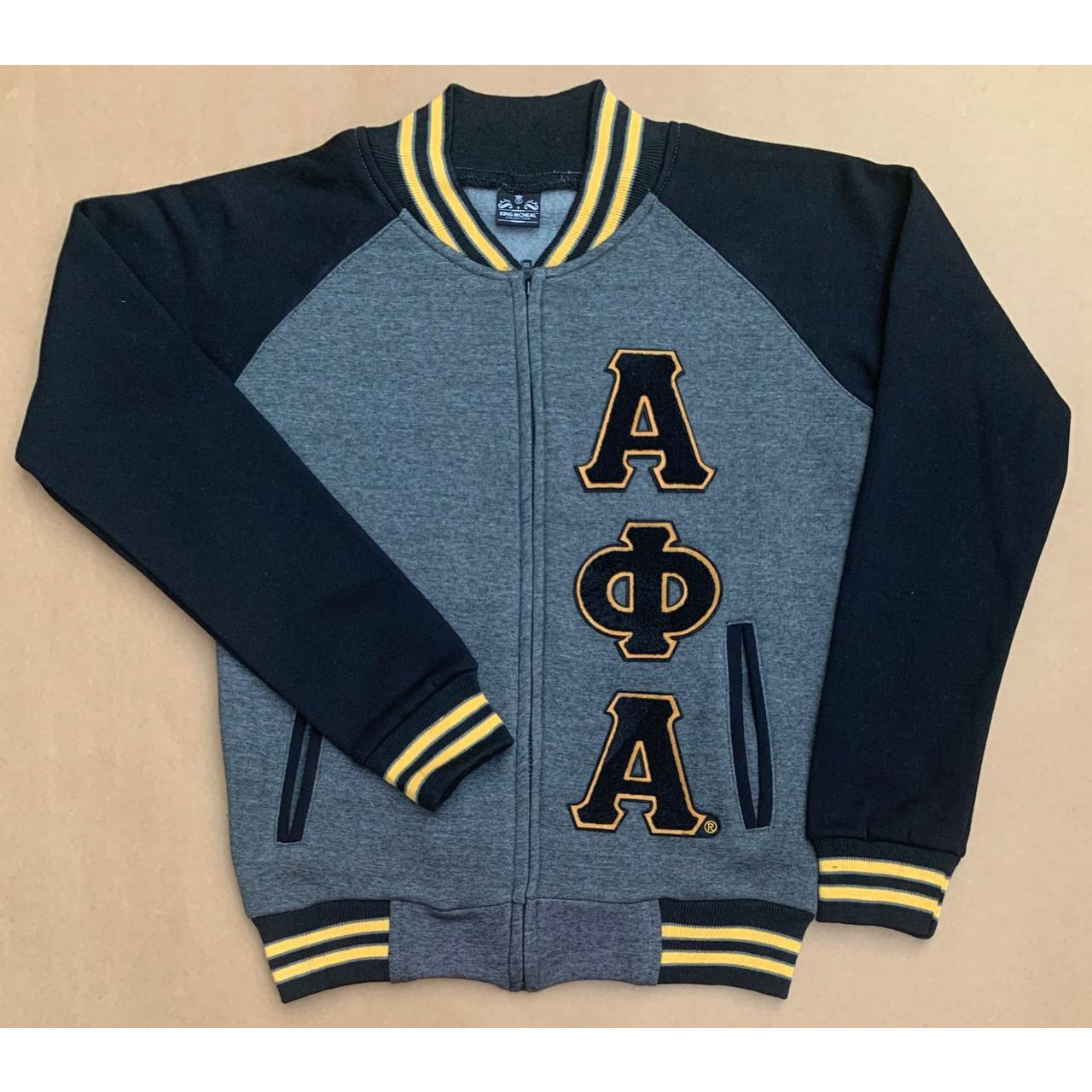 Dark Grey Alpha Phi Alpha Varsity Fleece