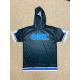 Phi Beta Sigma Black Dri-Fit Short Sleeve Hoodie