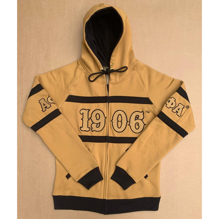 Zip Up Old Gold Alpha Phi Alpha Hoodie