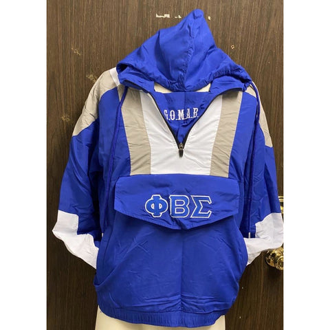Phi Beta Sigma Half Zip Windbreaker Jacket