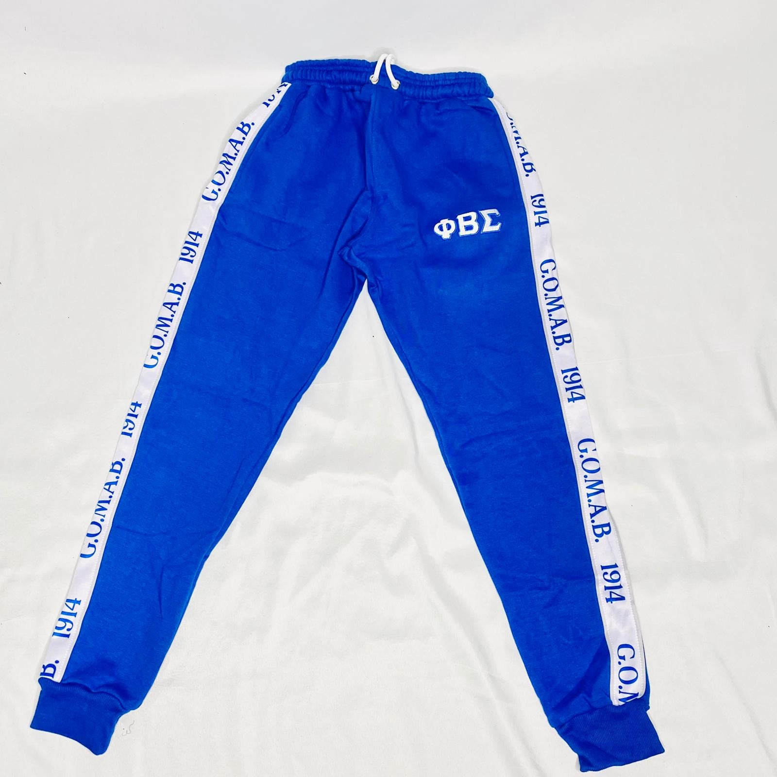 Blue Sigma Tapered Sweatsuit Joggers