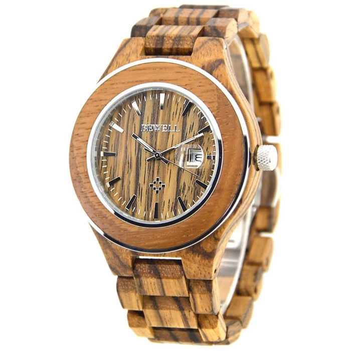 Men's Zebra Wood Watch