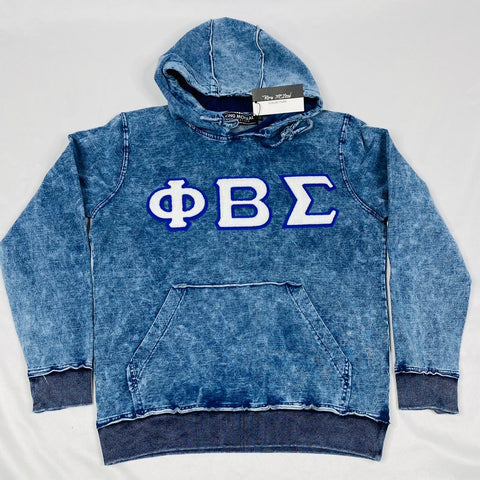 PBS Chenille Dark Washed Denim Hoodie
