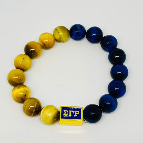 SGRho Gold and Royal Tigers Eye Bracelet