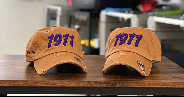 Gold Omega 1911 dad hat