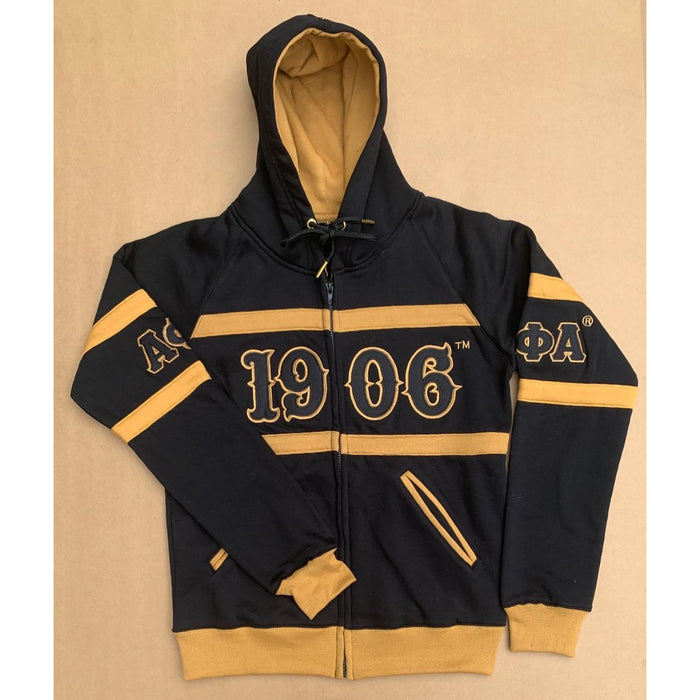 Zip Up Black Alpha Phi Alpha Hoodie