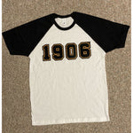 Chenille 1906 black and white raglan t-shirt