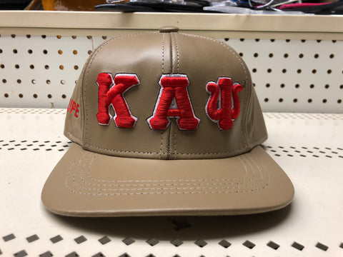 Leather Kappa Alpha Psi hat