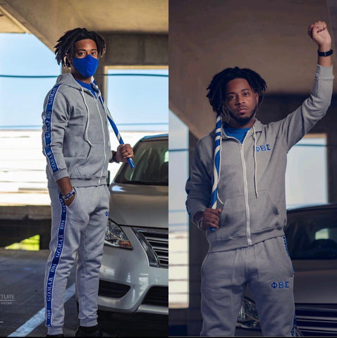 Phi Beta Sigma Tapered Sweatsuit Jacket