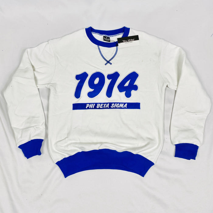 Phi Beta Sigma White 1914 Crewneck