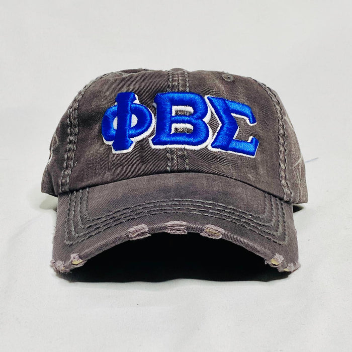 Grey Denim Phi Beta Sigma dad hat