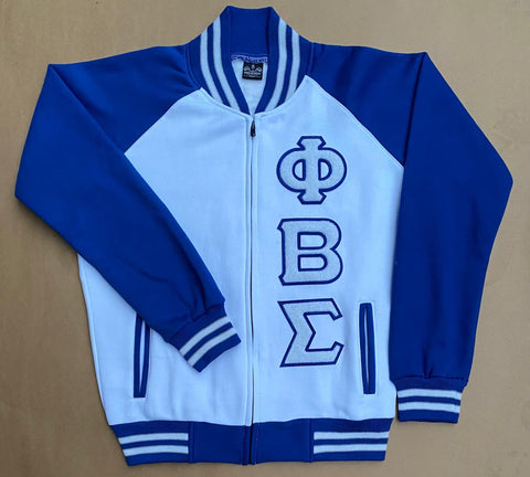 PBS White Baseball Fleece Jacket
