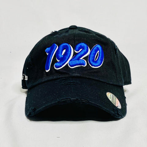 1920 Black Zeta Phi Beta Distressed Hat