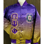 Omega Psi Phi Faded Bomber Jacket