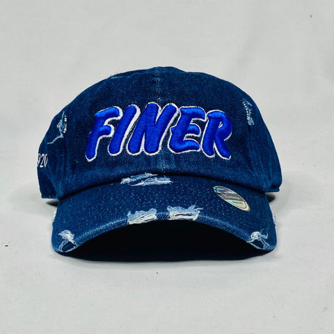 Dark Denim Finer Zeta Phi Beta Distressed Hat