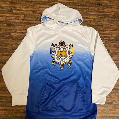 SGRho Ombre Crest Chenille Hoodie