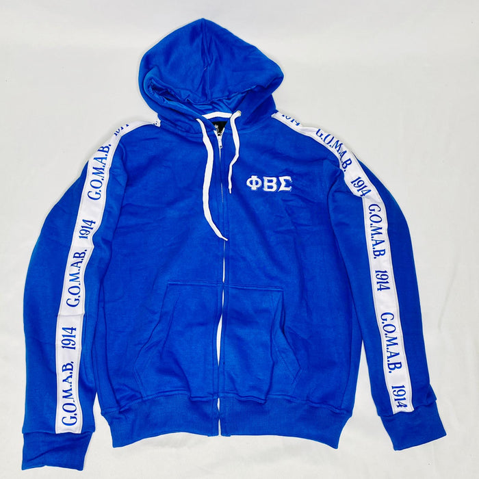 Blue Phi Beta Sigma Tapered Sweatsuit Jacket
