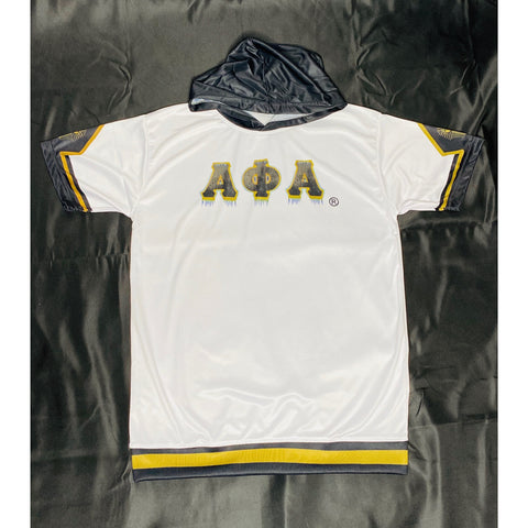 Alpha Phi Alpha White Dri-Fit Short Sleeve Hoodie