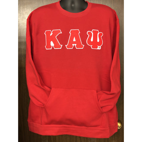 Chenille Kappa Alpha Psi Pocket Crewneck
