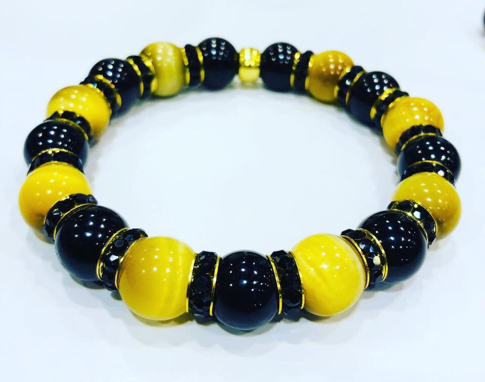 Tigers eye black and gold