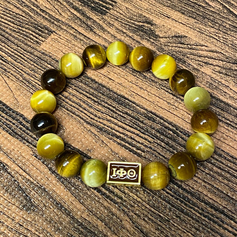 Iota Brown and Gold Tigers Eye Bracelet