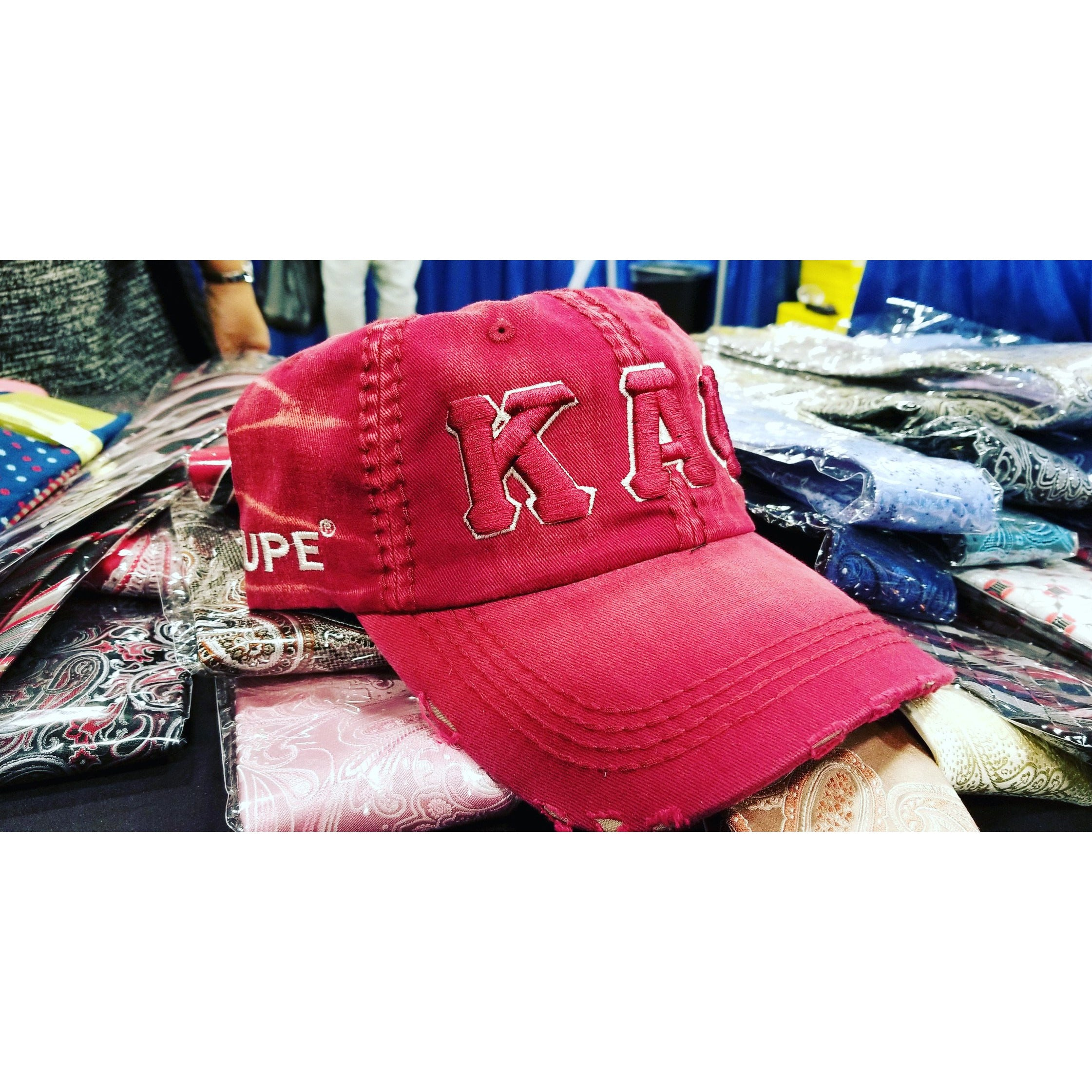 Kappa Alpha Psi red denim dad hat