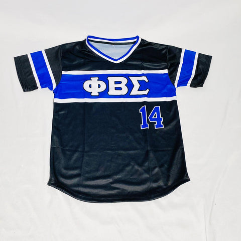 Black Phi Beta Sigma Baseball Jersey