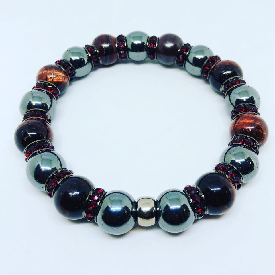 Hematite with tigers eye