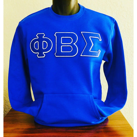 Phi Beta Sigma Pocket Chenille Crewneck